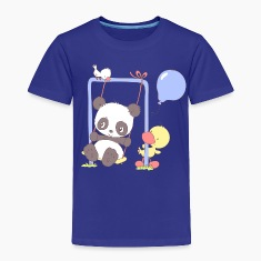 Cute Panda Bear on Swing Baby & Toddler Shirts