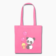 Panda and Duckling with Balloons Bags & backpacks