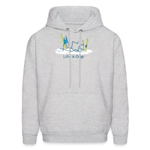 Ski Crash - Mens Hooded Sweatshirt - Men's Hoodie