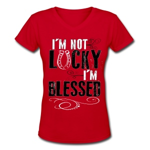 Blessed  - Women's V-Neck T-Shirt