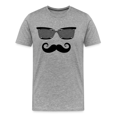 Hipster Sunglasses triangle Face Mustache Beard De