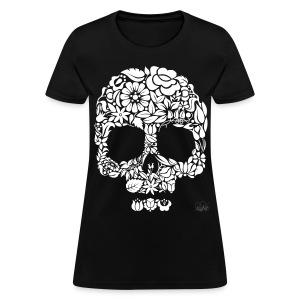 Flower Skull Womens - Women's T-Shirt