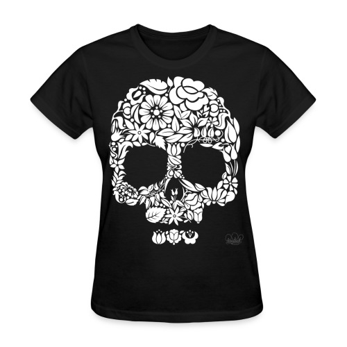 Flower Skull Womens - Women's T-Shirt