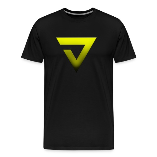 V7 Yellow Black Fade - Men's Premium T-Shirt