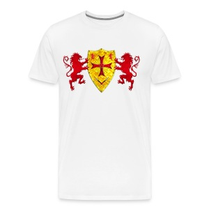 Knights Templars Crusaders Lions weapon shield men's Tee - Men's Premium T-Shirt