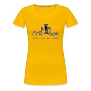 Fit By Faith Logo Short Sleeve Shirt - Women's Premium T-Shirt