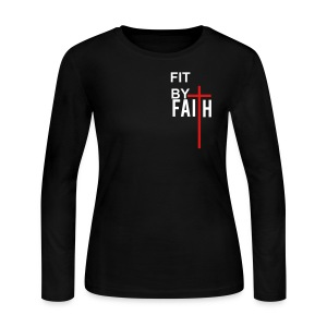 Fit By Faith Logo Long Sleeve Shirt - Women's Long Sleeve Jersey T-Shirt