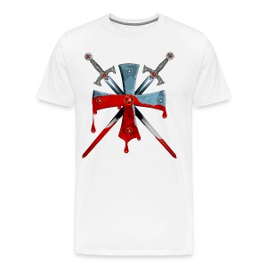 Knights Templars Crusaders Sword Cross weapon men's Tee - Men's Premium T-Shirt