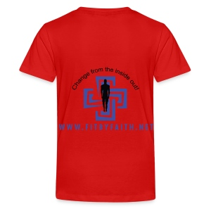 Fit By Faith Short Sleeve Red Logo Shirt - Kids' Premium T-Shirt
