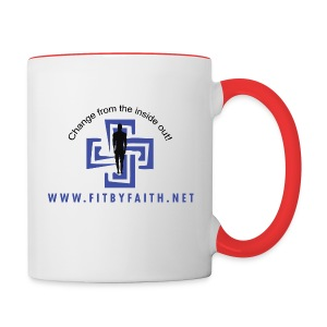 Fit By Faith Logo Red Coffee Mug - Contrast Coffee Mug