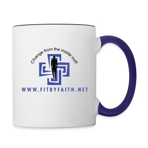 Fit By Faith Logo  Blue Coffee Mug - Contrast Coffee Mug