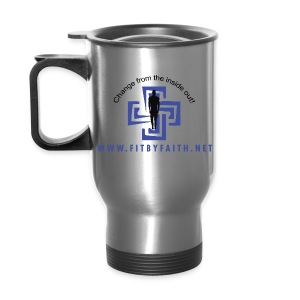 Fit By Faith Logo Stainless Steel Travel Mug - Travel Mug