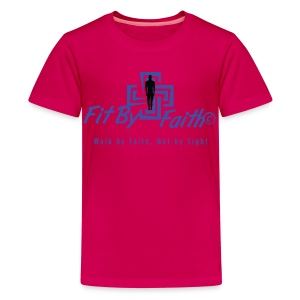 Fit By Faith Short Sleeve Pink Logo Shirt - Kids' Premium T-Shirt