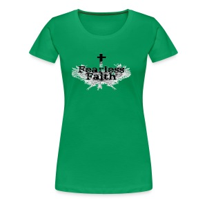 Fearless Faith Green Logo Shirt - Women's Premium T-Shirt