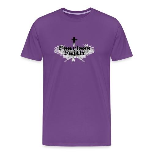 Fearless Faith Purple Logo Shirt - Men's Premium T-Shirt