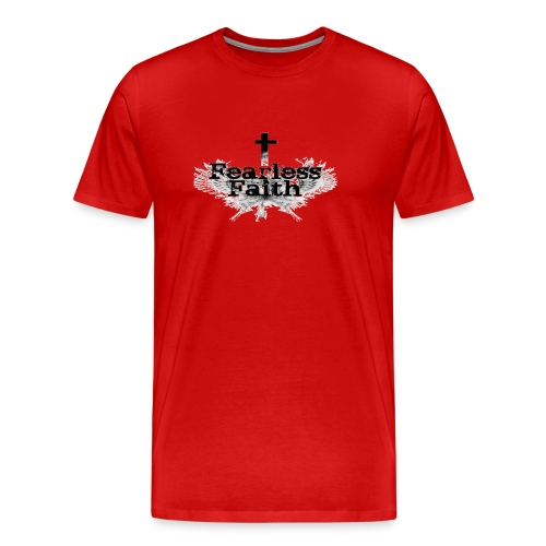 Fearless Faith Red Logo Shirt - Men's Premium T-Shirt