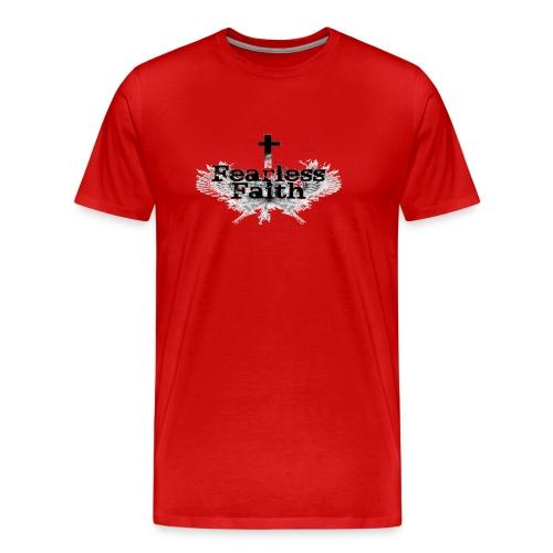 Fearless Faith Red Logo Shirt - Men's Premium T-Shirt