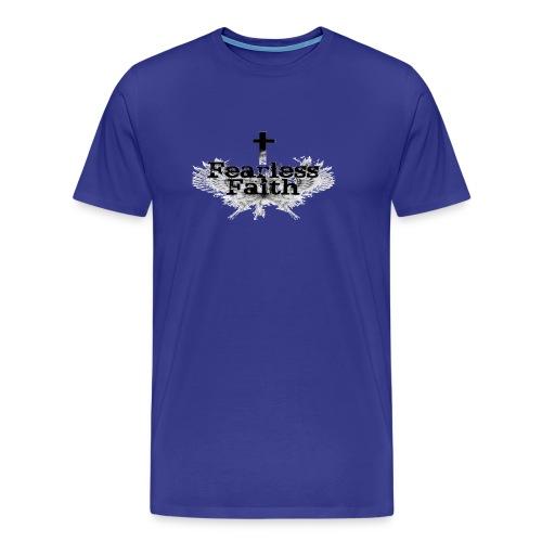 Fearless Faith Blue Logo Shirt - Men's Premium T-Shirt