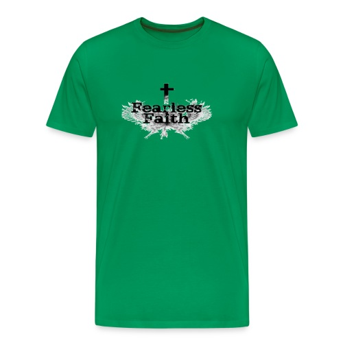 Fearless Faith Green Logo Shirt - Men's Premium T-Shirt