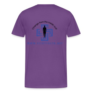 Fearless Faith Purple Logo Shirt - Men's Premium T-Shirt