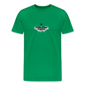 Fearless Faith Green Logo Shirt - Men's Premium T-Shirt