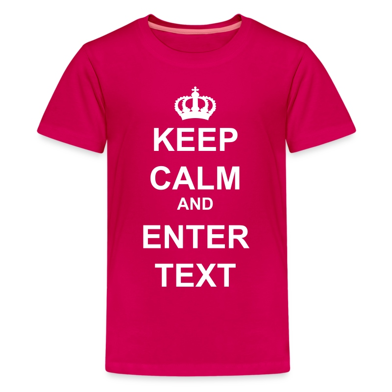 Keep Calm And Custom Text Crown T Shirt Customtexttshirts