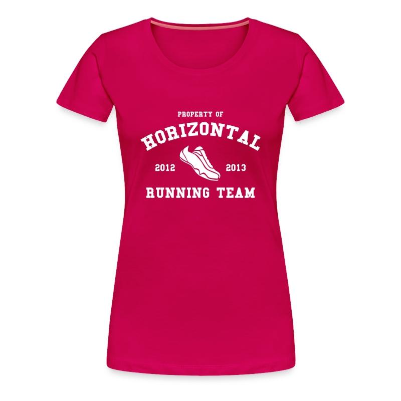 Horizontal Running Team - Women's Premium T-Shirt