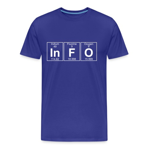 In-F-O (info) - Full - Men's Premium T-Shirt