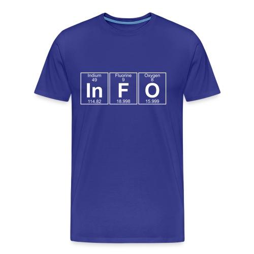 In-F-O (info) - Full - Men's Premium T-Shirt