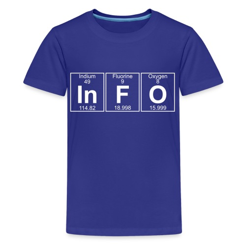 In-F-O (info) - Full - Kids' Premium T-Shirt