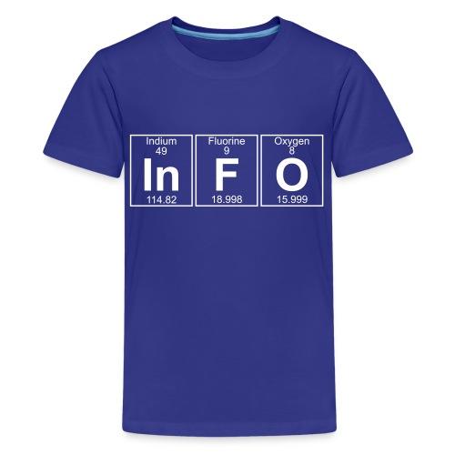 In-F-O (info) - Full - Kids' Premium T-Shirt