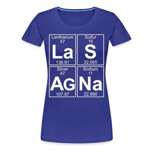 La-S-Ag-Na (lasagna) - Full - Women's Premium T-Shirt