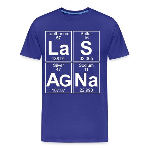 La-S-Ag-Na (lasagna) - Full - Men's Premium T-Shirt