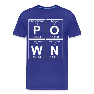 P-O-W-N (pown) - Full - Men's Premium T-Shirt