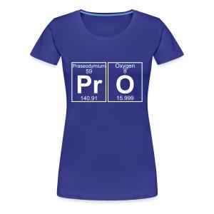 Pr-O (pro) - Full - Women's Premium T-Shirt