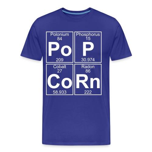 Po-P-Co-Rn (popcorn) - Full - Men's Premium T-Shirt