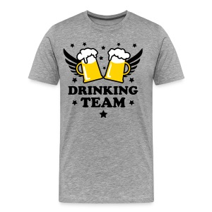 10 Drinking Team 3c Beer Bier Party Alcohol 3c Beer  Bachelor Party stag night men's T-Shirt T-Shirt - Men's Premium T-Shirt