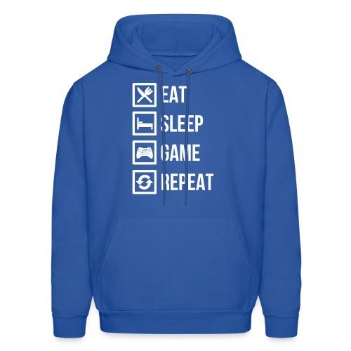 Eat Sleep Game Repeat Hoodie Mens - Men's Hoodie