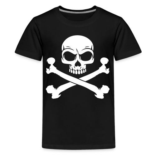 Skull and Crossbones Pirate Skull - Kids' Premium T-Shirt