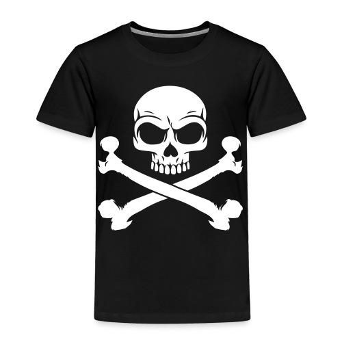 Skull and Crossbones Pirate Skull - Toddler Premium T-Shirt