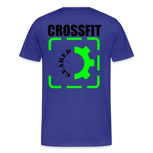 Classic Geared Men's (Black & Green logo)  - Men's Premium T-Shirt