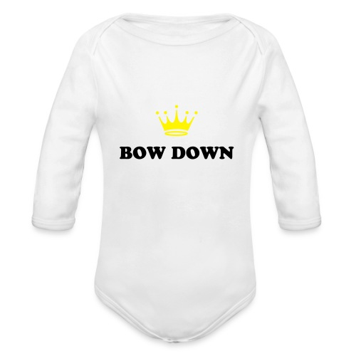 Bow Down 4 Baby - Organic Long Sleeve Baby Bodysuit