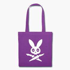 rabbit hare bunny bunnies carrots star eyes scull Bags & backpacks
