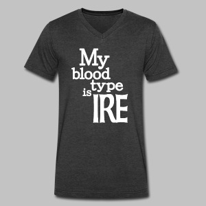 My Blood Type Is Irish - Men's V-Neck T-Shirt by Canvas