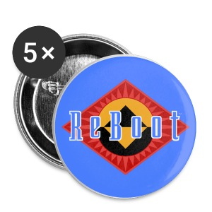 ReBoot Button Blue 25mm - Small Buttons