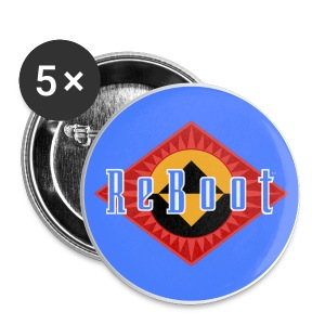 ReBoot Button Blue 56mm - Large Buttons