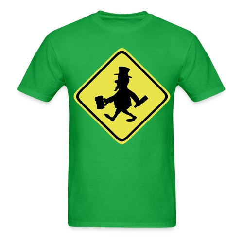 Leprechaun Walking - Men's T-Shirt