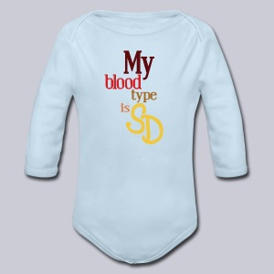 My Blood Type is SD - Long Sleeve Baby Bodysuit