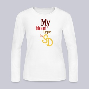 My Blood Type is SD - Women's Long Sleeve Jersey T-Shirt
