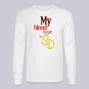 My Blood Type is SD - Men's Long Sleeve T-Shirt